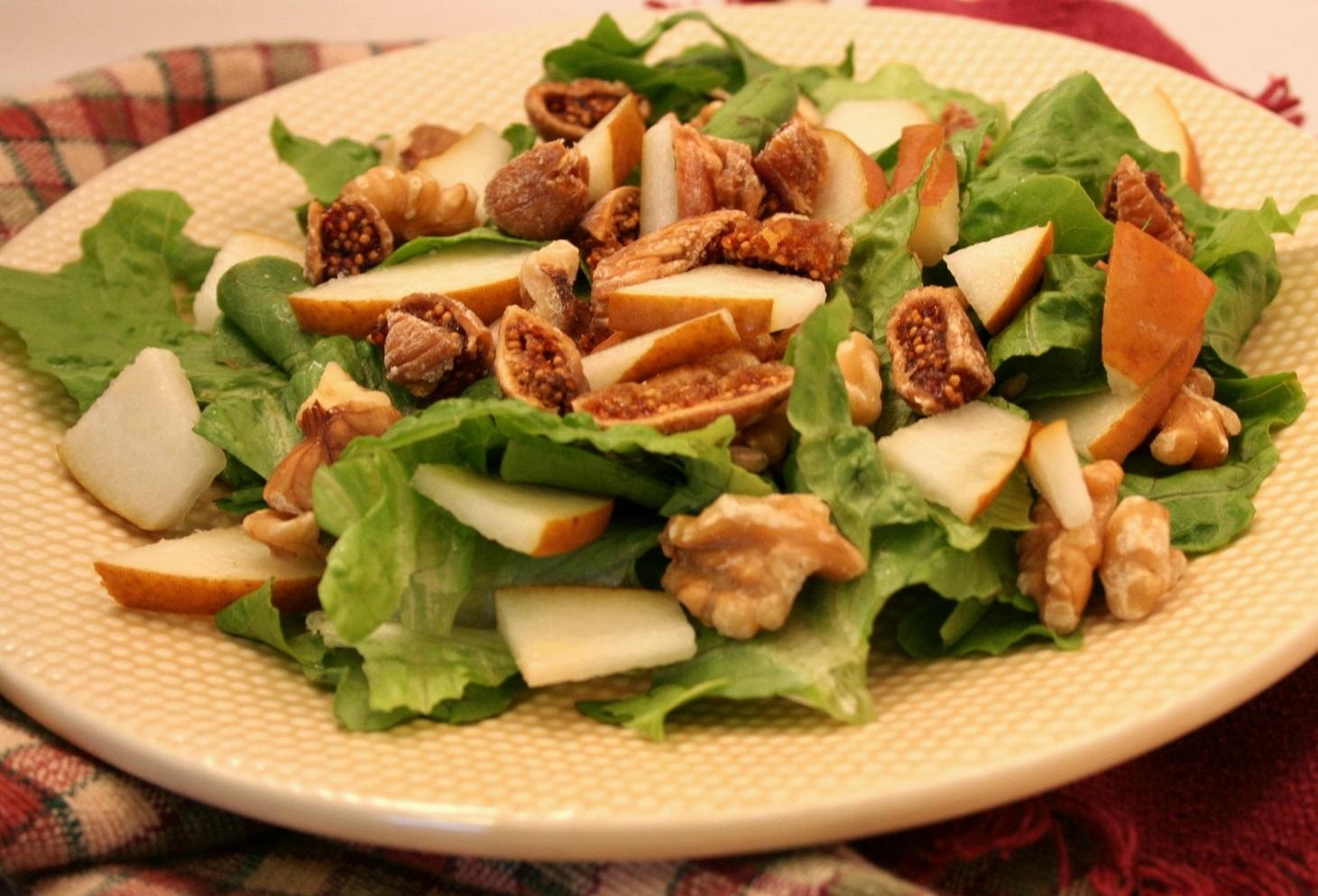 Fig, Pear, and Walnut Salad – Ultimate Daniel Fast
