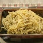 Spaghetti Squash w/ Basil-Walnut Cream Sauce
