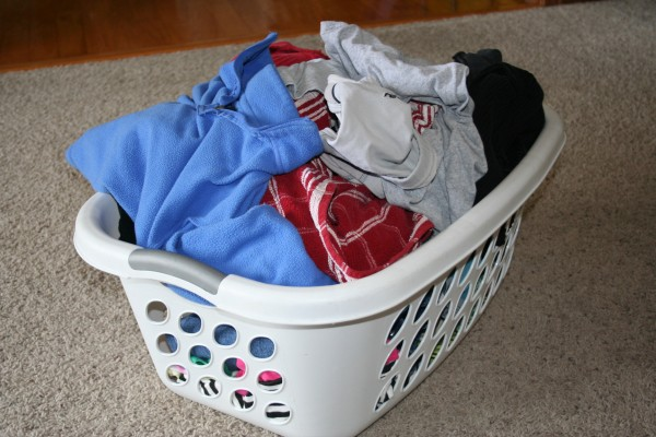Heaping Basket of Laundry